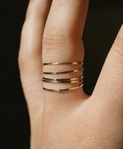 Ultra Thin Gold Filled ring set of 5
