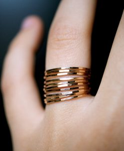 Ultra Thin Gold Filled ring set of 10