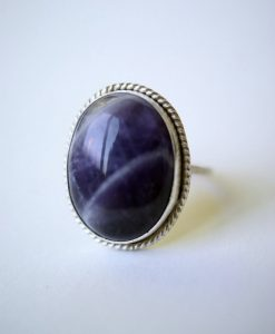 Oval Amethyst Twist ring