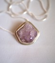 Rugged Purple Amethyst necklace