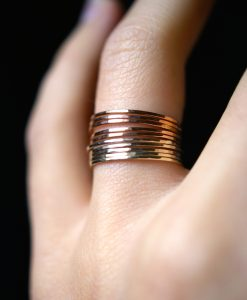 Rose and Yellow Gold fill Stack ring set