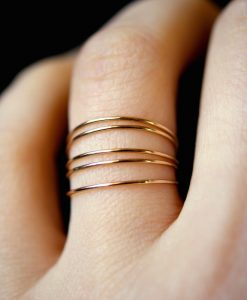 Smooth Ultra Thin Gold Filled stacking rings