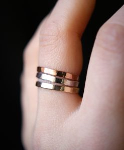 Extra Thick Mixed Metal Stack ring set of 3
