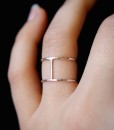 Sterling Silver Cage ring