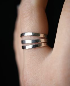 Sterling Silver Stack ring set of 3, Extra Thick