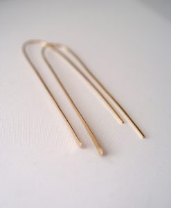 Long Gold Arch earrings