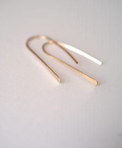Small Gold Arch earrings