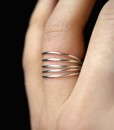 Connected Sterling Silver Stacking rings