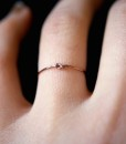 Tiny Ultra Thin Closed Knot ring