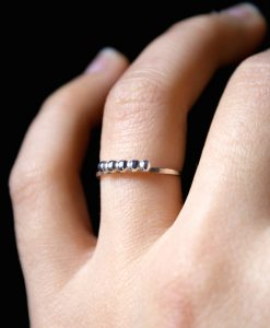 Beaded Sterling Silver stack ring