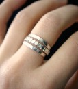Silver Bead Stacking ring set of 3