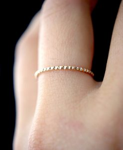 Lined Gold ring
