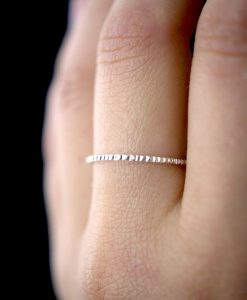 Lined Sterling Silver ring