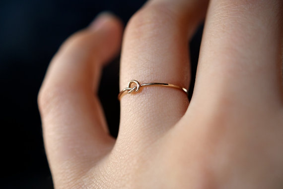 Tiny Ultra Thin Open Knot Ring, 14k Gold Fill  Hannah. Weird Wedding Wedding Rings. Iris Rings. Real Diamond Rings. Shark Rings. Geometric Wedding Rings. Soldered Rings. One Half Engagement Rings. Raja Jewellers Wedding Rings