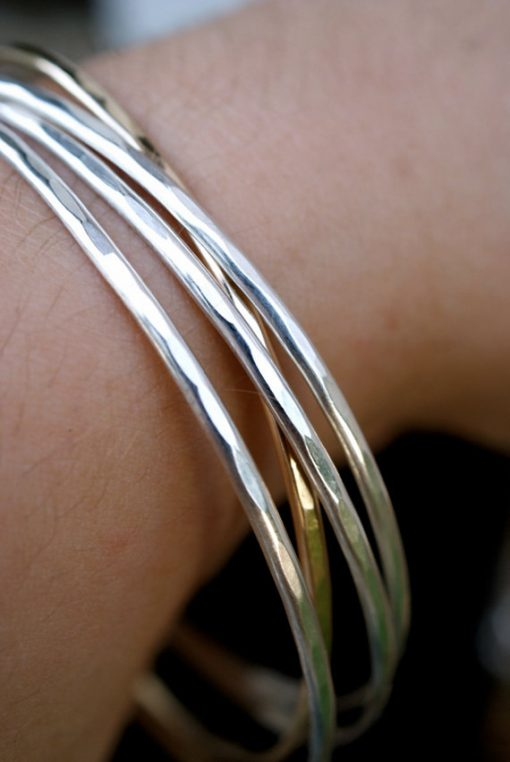 gold bangle jewelry closeup