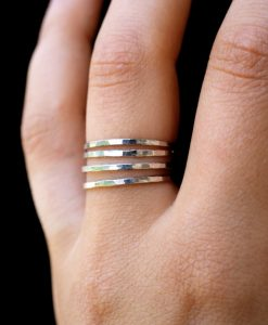 Set of 4 Medium Thickness Sterling Silver