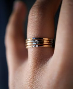 14K Gold rings, set of 4