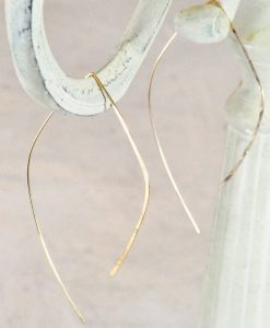 Teardrop hoop earrings, gold filled