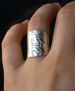 Small Silver Shield ring