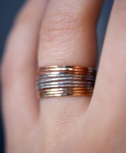 Set of 10 Mixed Metal Stacking rings