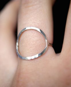 Skinny Sterling Silver Infinity ring