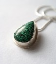 Green Teardrop Chrysocolla necklace