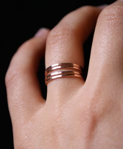 Stacking Ring Set of 4, Medium Thickness ROSE Gold-filled