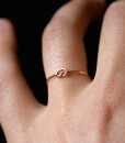 Tiny Ultra Thin Knot ring in Rose Gold