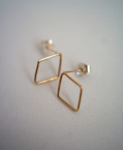 Tiny Diamond Studs in 14k Gold filled