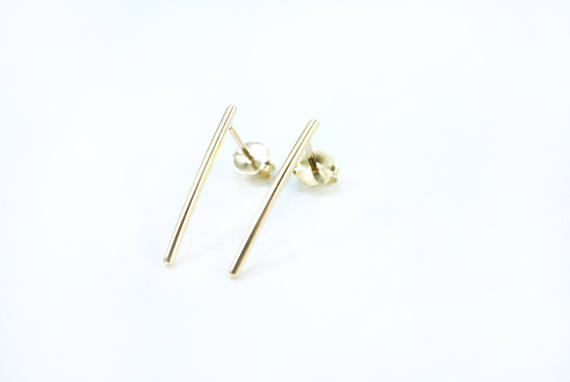 Gold-Fill Bar Studs