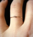 Tiny Ultra Thin Closed Knot ring in 14kt gold fill