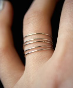 Smooth Sterling Silver Stack rings