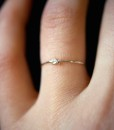 Tiny Silver Closed Knot ring