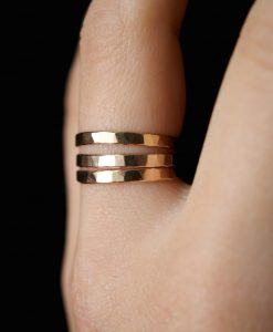 Extra Thick Gold Stack rings, Set of 3