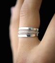 Sterling Silver Twist stacking ring set of 5