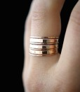 Rose Gold fill Stacking rings, set of 7