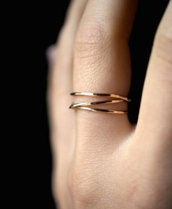 14K Gold Wraparound ring
