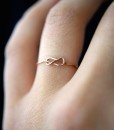 Ultra Thin Gold Infinity Knot ring
