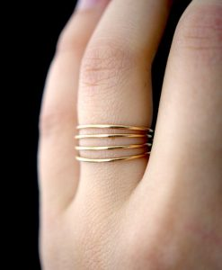Smooth Medium Thickness Gold Stacking rings