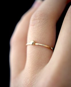 14K Gold Dot ring