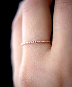 Lined Rose Gold ring