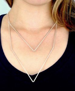 Medium Silver Geometric necklace