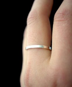 Smooth Extra Thick Silver ring