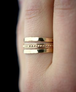Gold Lined stacking ring set