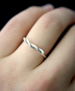 Wave ring, Sterling Silver