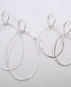 small and large oval hoops ss